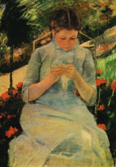 Girl Sewing (Femme Cousante)
