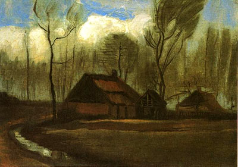 Farmhouses Among Trees