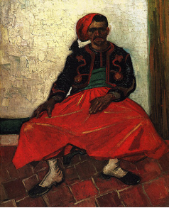 Zouave Sitting, Whole Figure 1888